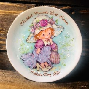 "Vintage 1981  ""Cherished Moments"" Mini Plate"